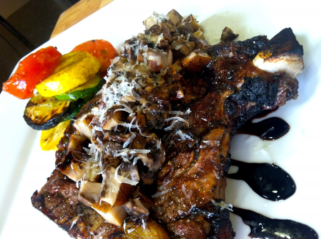 Fire Roasted T-Bone Recipe With Grilled Zucchini and Squash