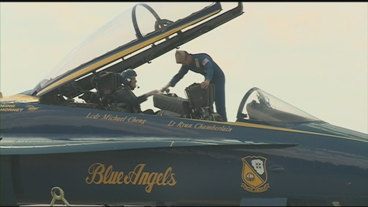 Navy Honors Man with Blue Angels Ride for Work in Community
