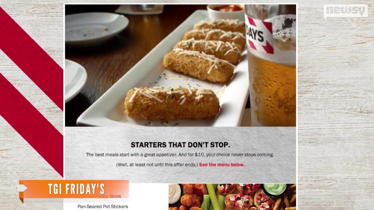 TGI Fridays Offering $10 'Endless' Apps