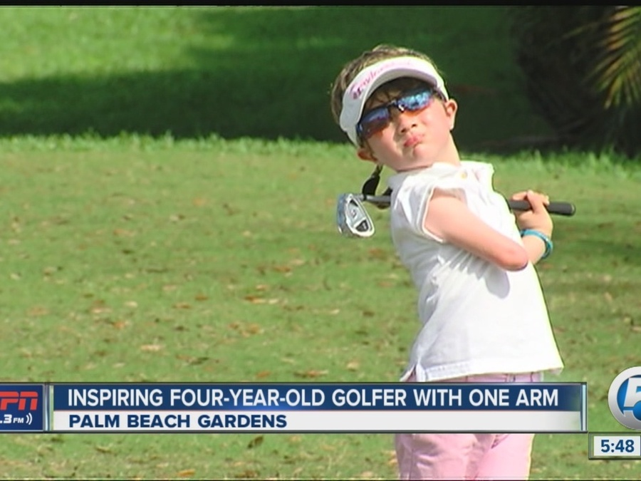 Inspiring 4-Year-Old Golfer with One Arm