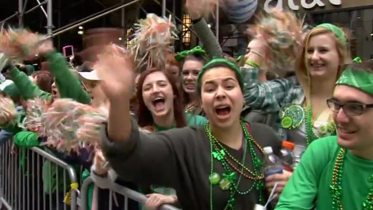 New York St. Patrick's Day Parade Largest in U.S.