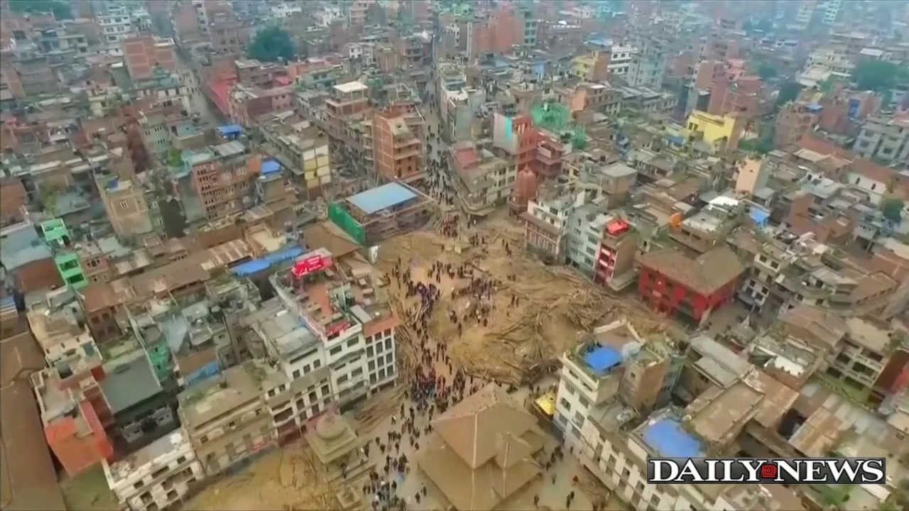 Drone Footage Shows Destruction In Nepal