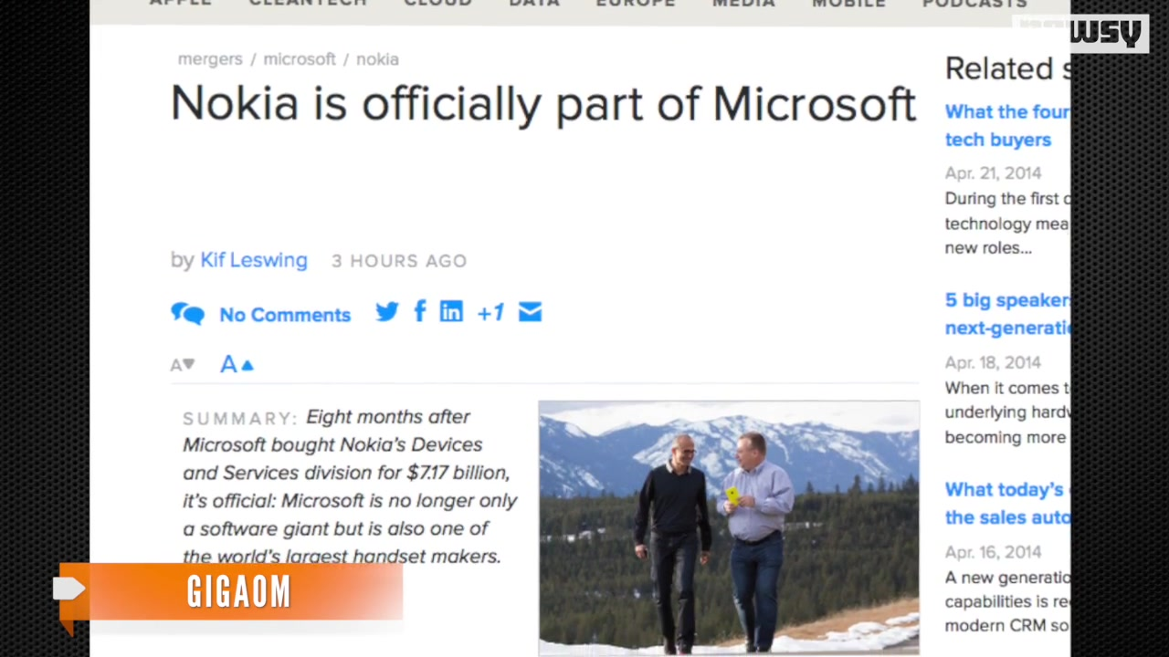 Microsoft, Nokia Announce Acquisition Closure
