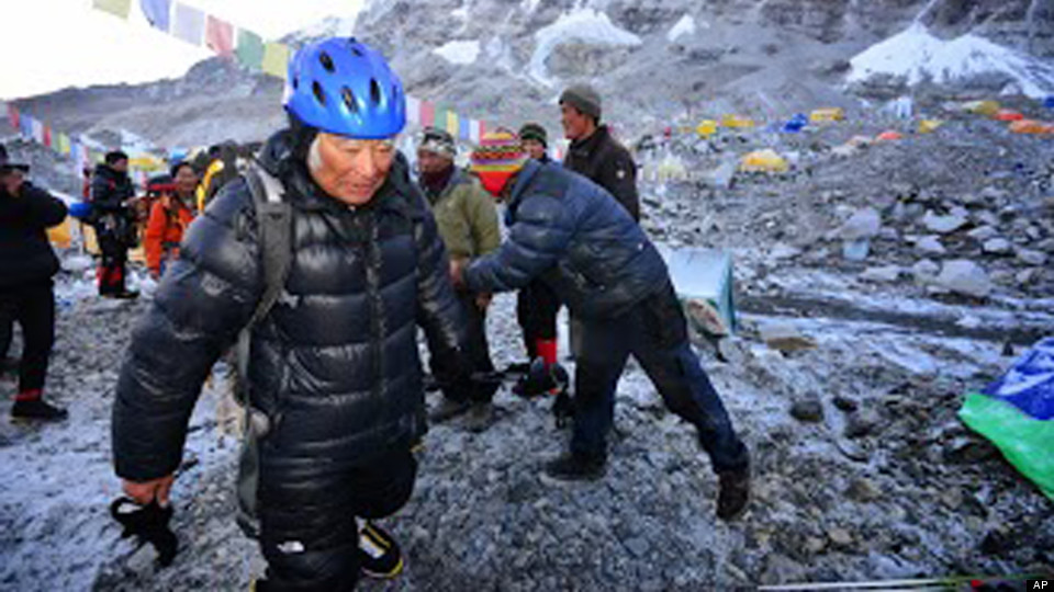 80-Year-Old Japanese Climber Becomes Oldest Atop Everest