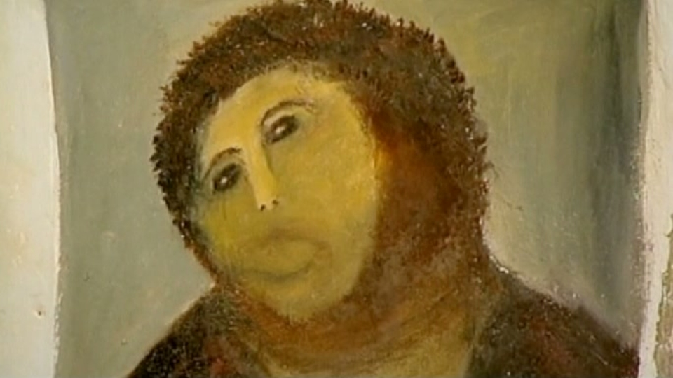 Art Restorer Ruins Fresco While Trying to Fix It