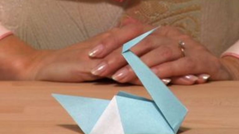 How to Fold an Origami Swan