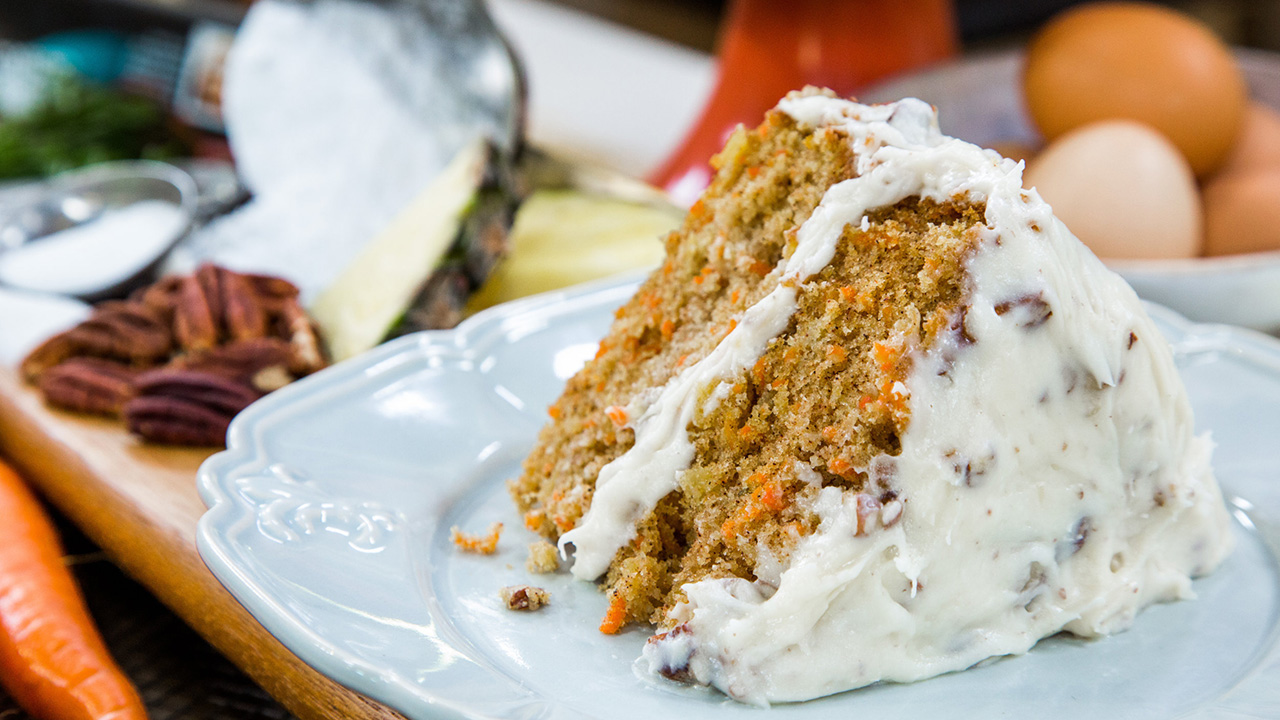 Taste of Home Magazine's Carrot Cake Recipe Wth Pecan Frosting