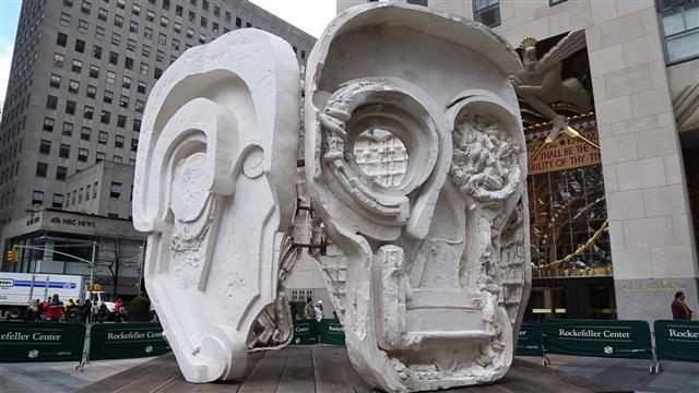 New Art Unmasked in NYC's Rockefeller Plaza