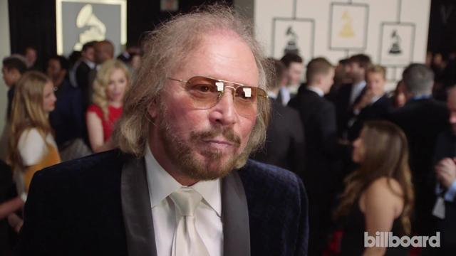 Barry Gibb: The 2015 Grammys Red Carpet