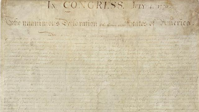 Handprint On Declaration Of Independence Remains A Mystery