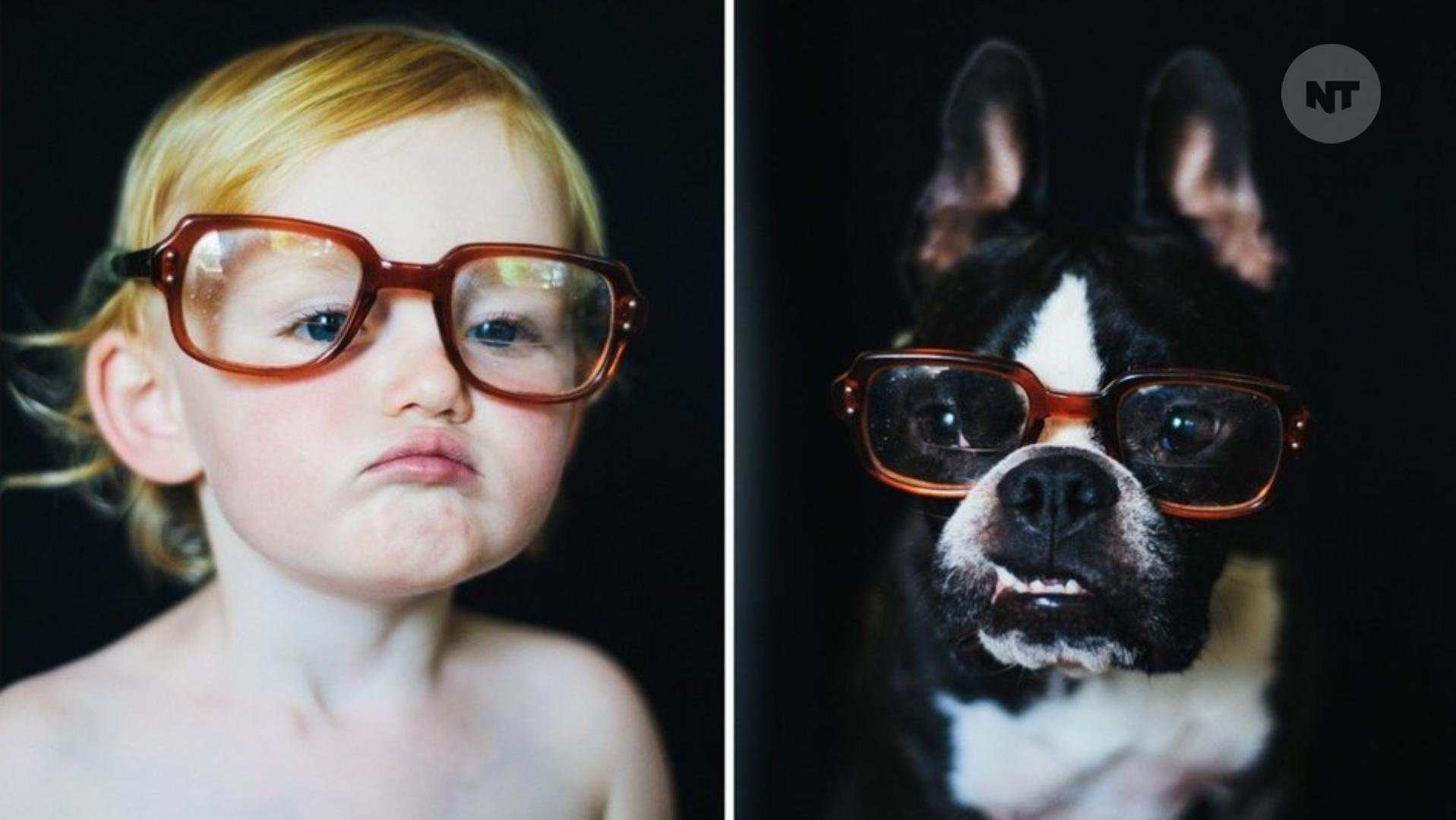Mom Takes Side-By-Side Photos Of Her Daughter & Puppy For An Entire Year