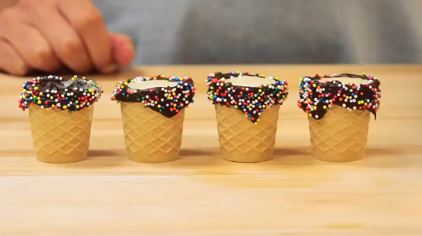How to Make Ice Cream Cone Shot Glasses