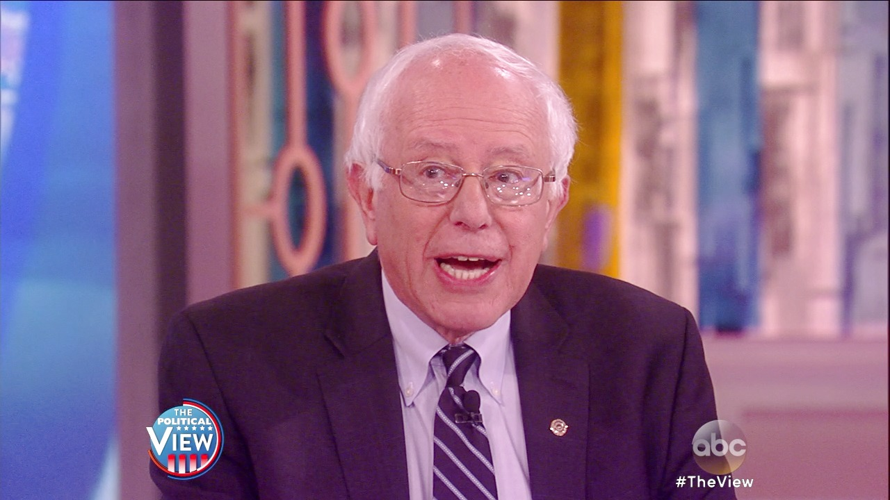 'The View': Bernie Sanders on 'The View': Says He Can Win Against Hillary