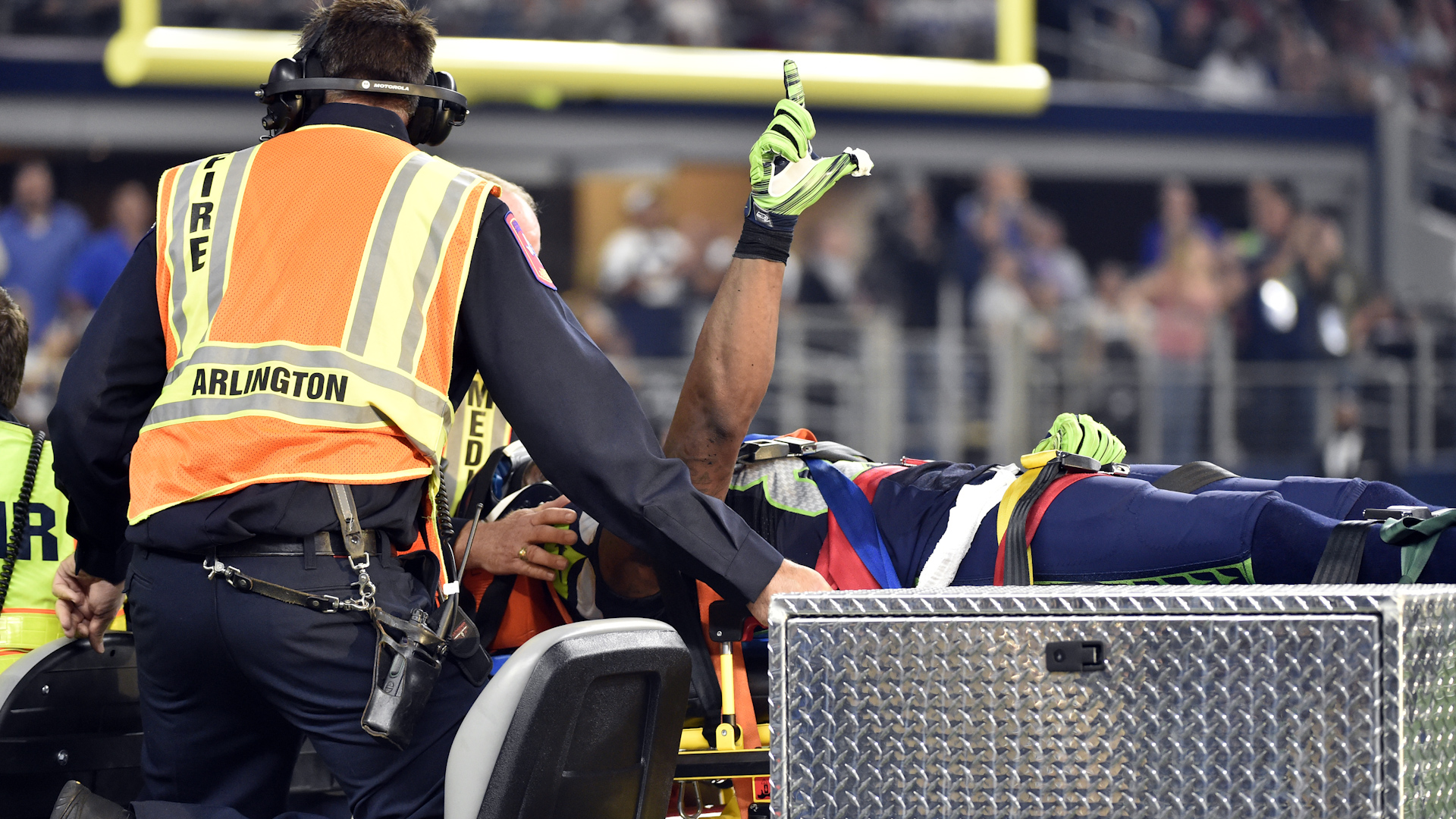 Seahawks' Lockette in High Spirits Day After Suffering Serious Neck Injury