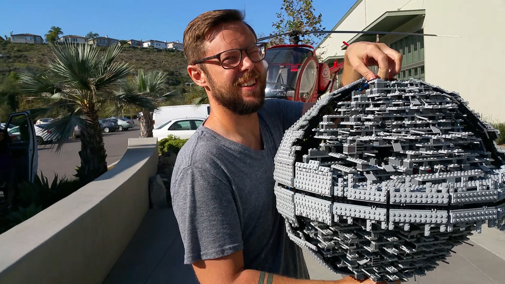 Behind the Scenes: 'Star Wars' Lego Death Star Gets Destroyed