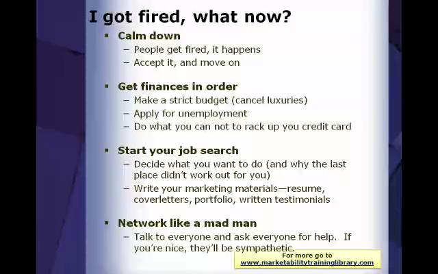 What to Do If You Get Fired