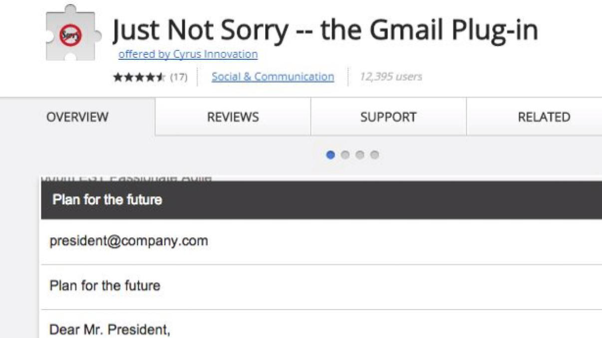 Gmail Wants You to Stop Apologizing