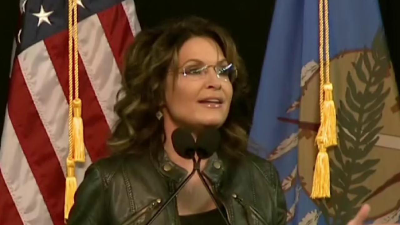 Palin Speaks at Trump Rally