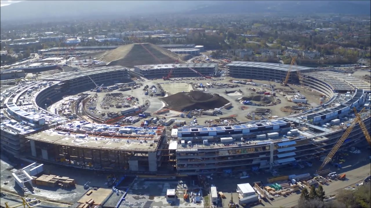 Drone Captures Stunning Footage of Apple's New Campus