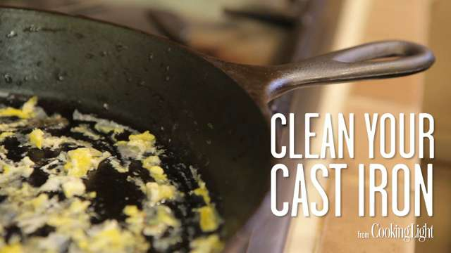 The Easiest Way to Clean Your Cast-Iron Skillet