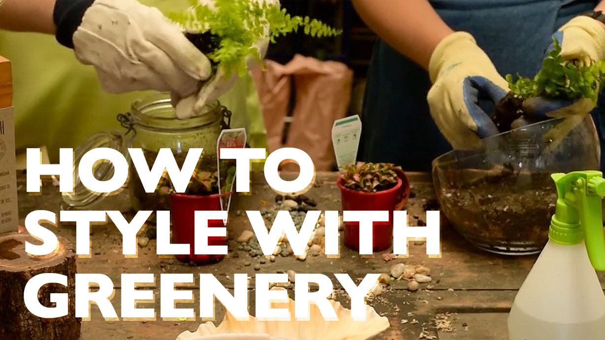 How to Style With Greenery
