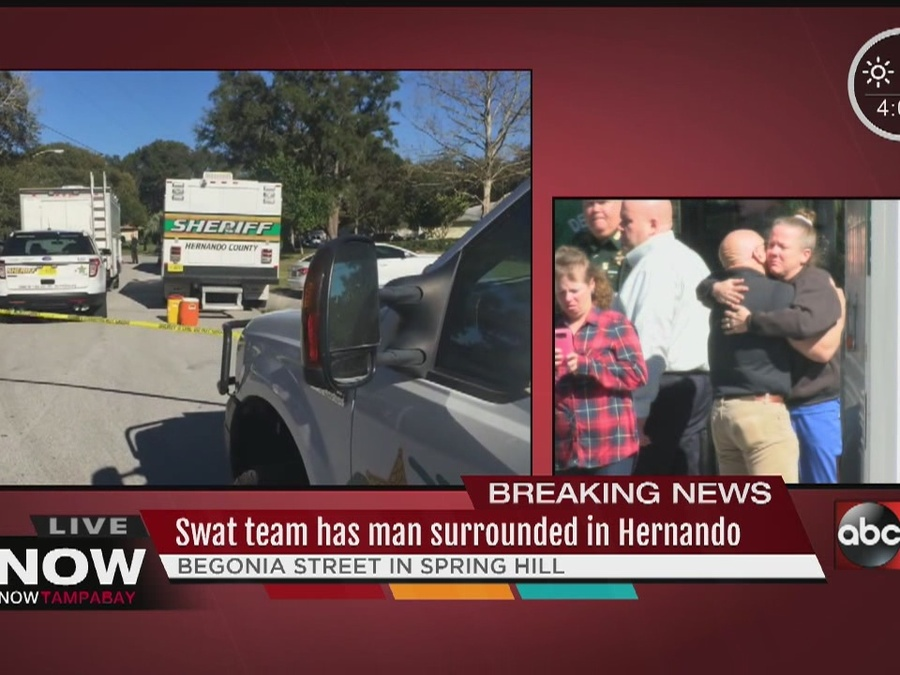 Roads Closed as Hernando Deputies Negotiate with Barricaded Man