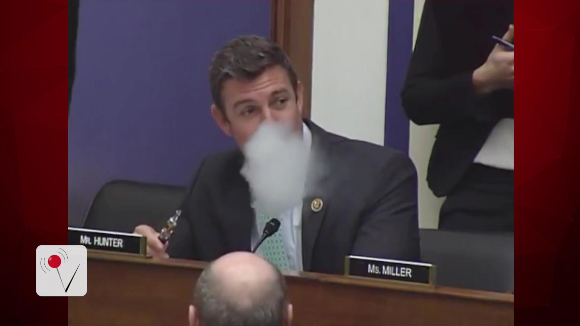 Congressman Vapes During Hearing on Vaping on Planes