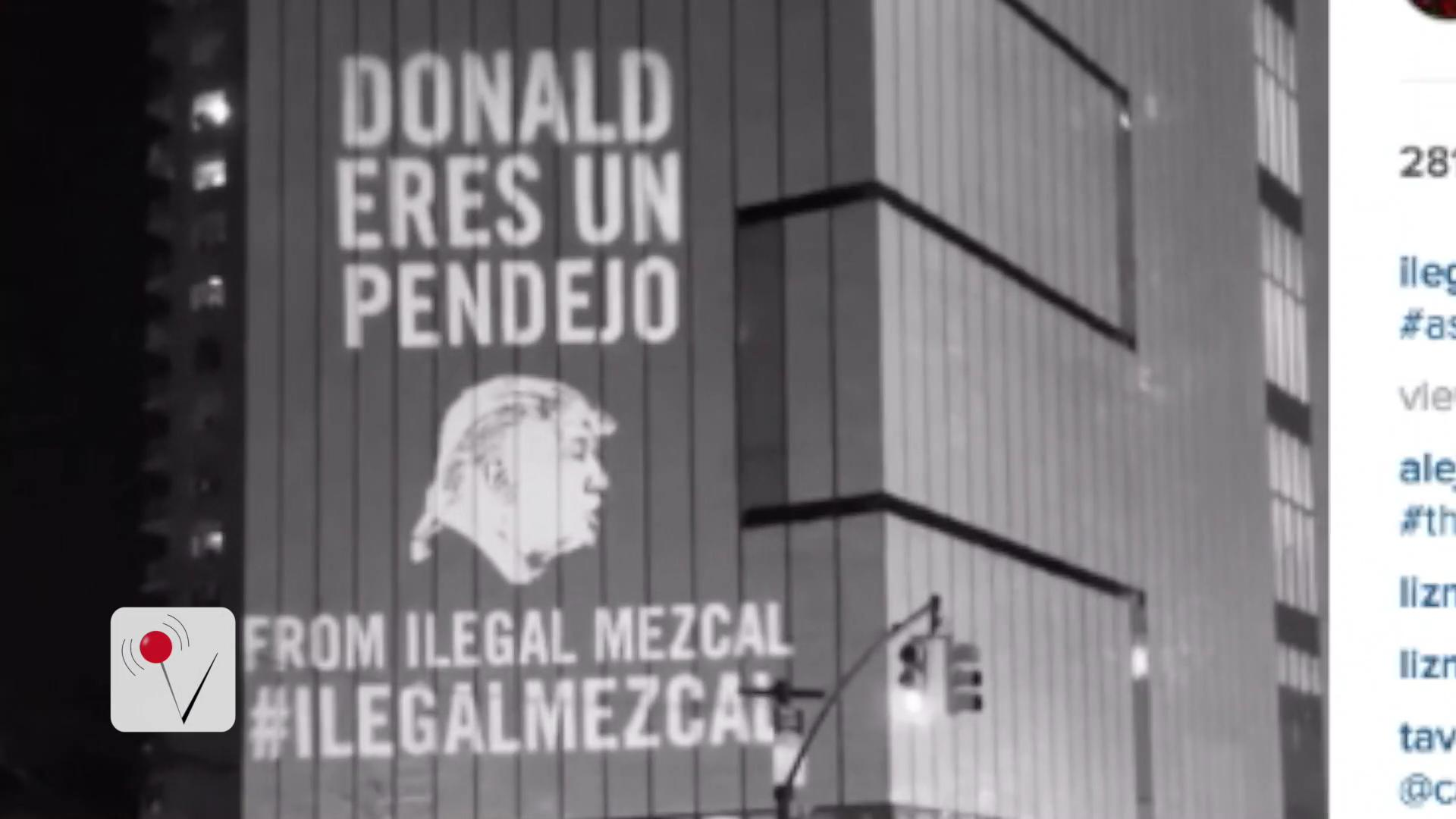 Anti-Donald Trump Campaign Projected Next to His Own Hotel