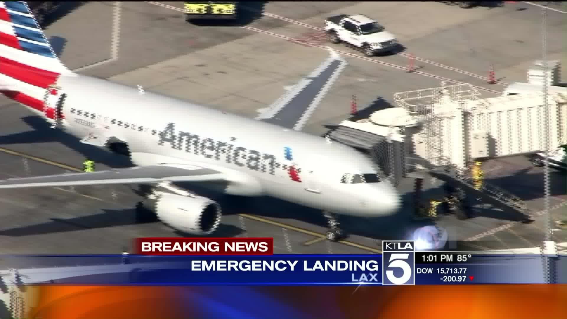 Plane Makes Emergency Landing At LAX