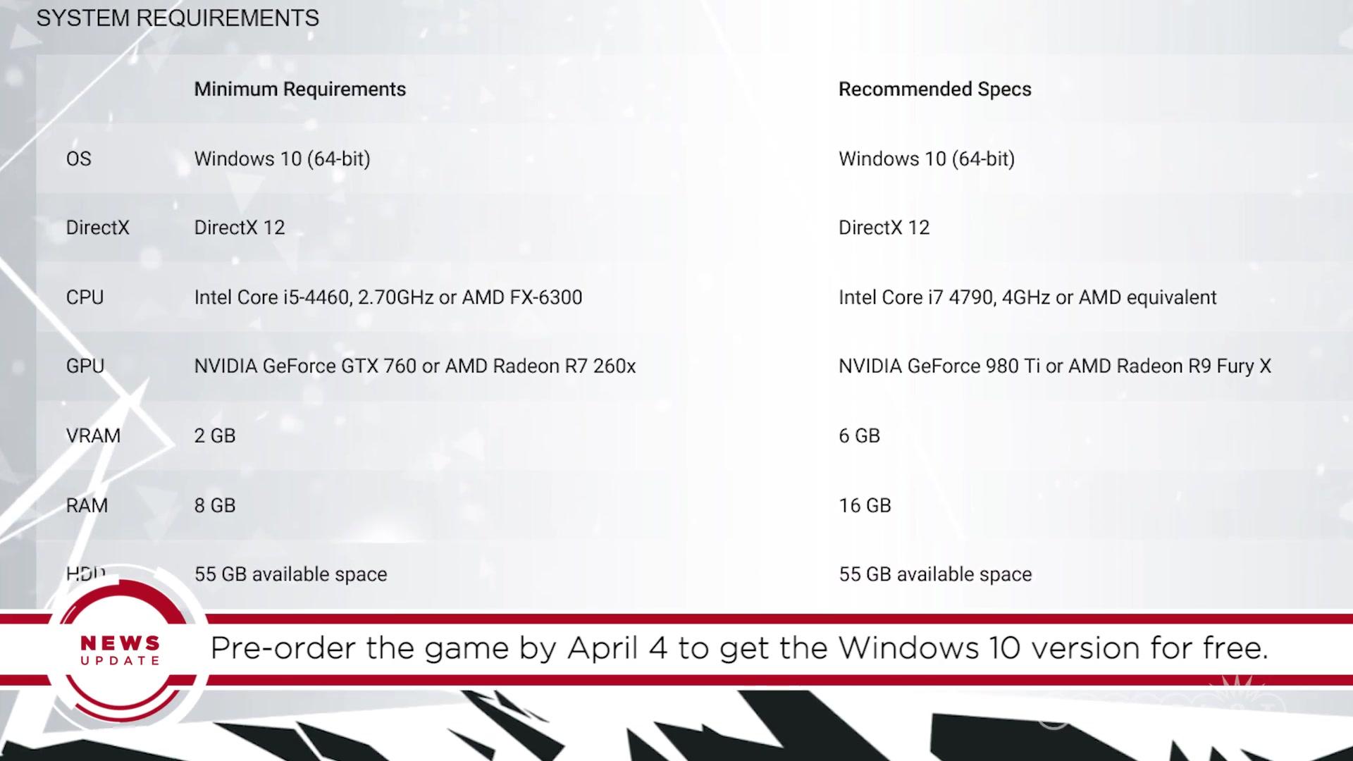 GS News Update: Quantum Break Getting a PC Release, Xbox One Bundle
