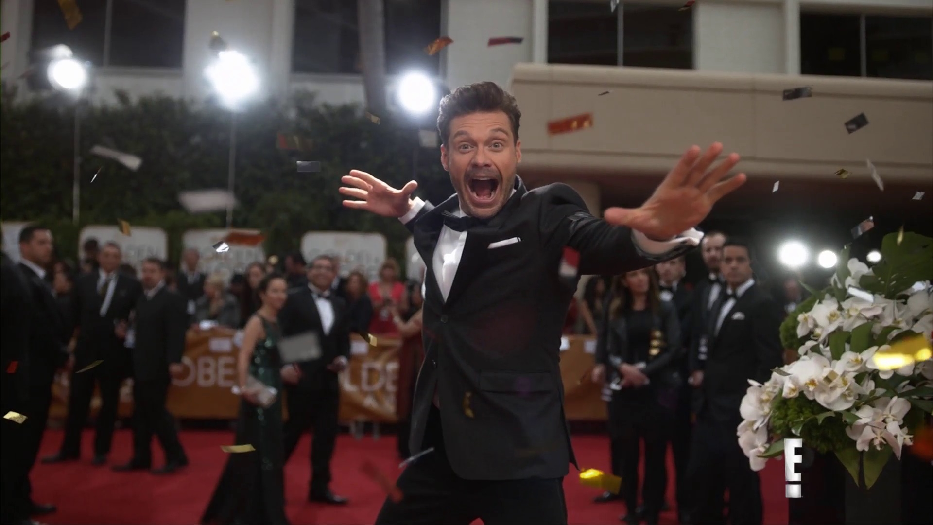 Ryan Seacrest Celebrates 10 Years on E!'S Red Carpet
