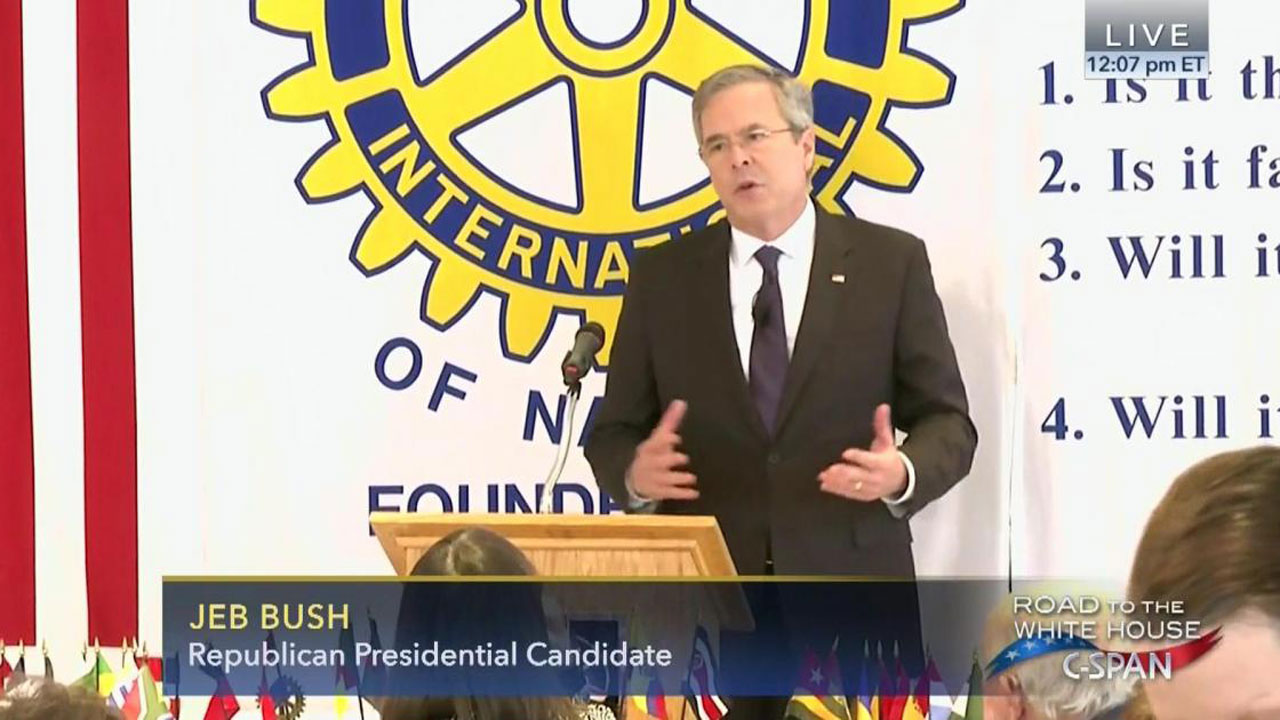 Jeb Bush Kicked Off Stage At Rotary Luncheon