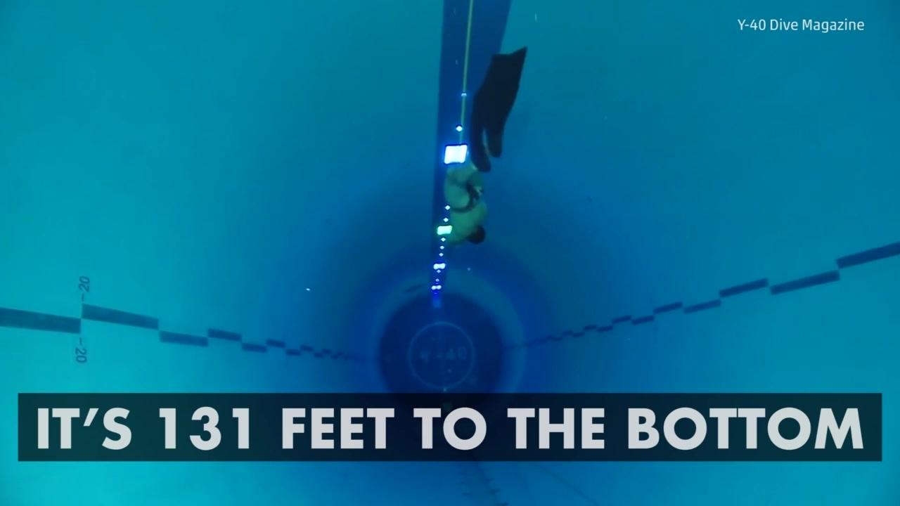 Inside y 40 the world 39 s deepest swimming pool aol - How deep is the average swimming pool ...