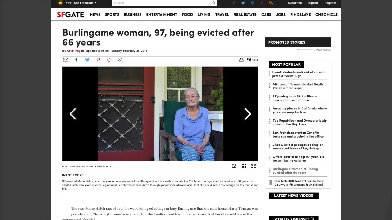 Internet Rallying Behind 97-Year-Old Renter Who May Get Evicted