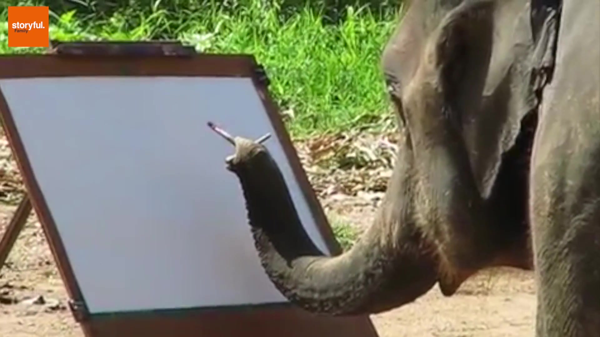 This Elephant Is a Really Good Painter