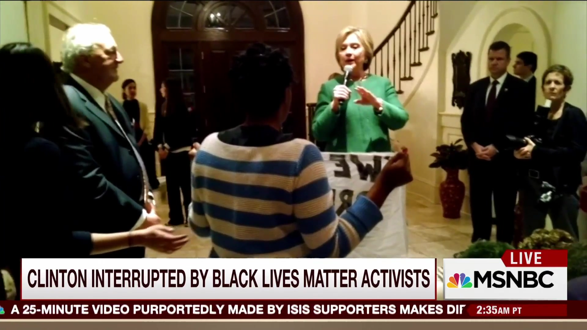 Black Lives Matter Activists Interrupt Clinton