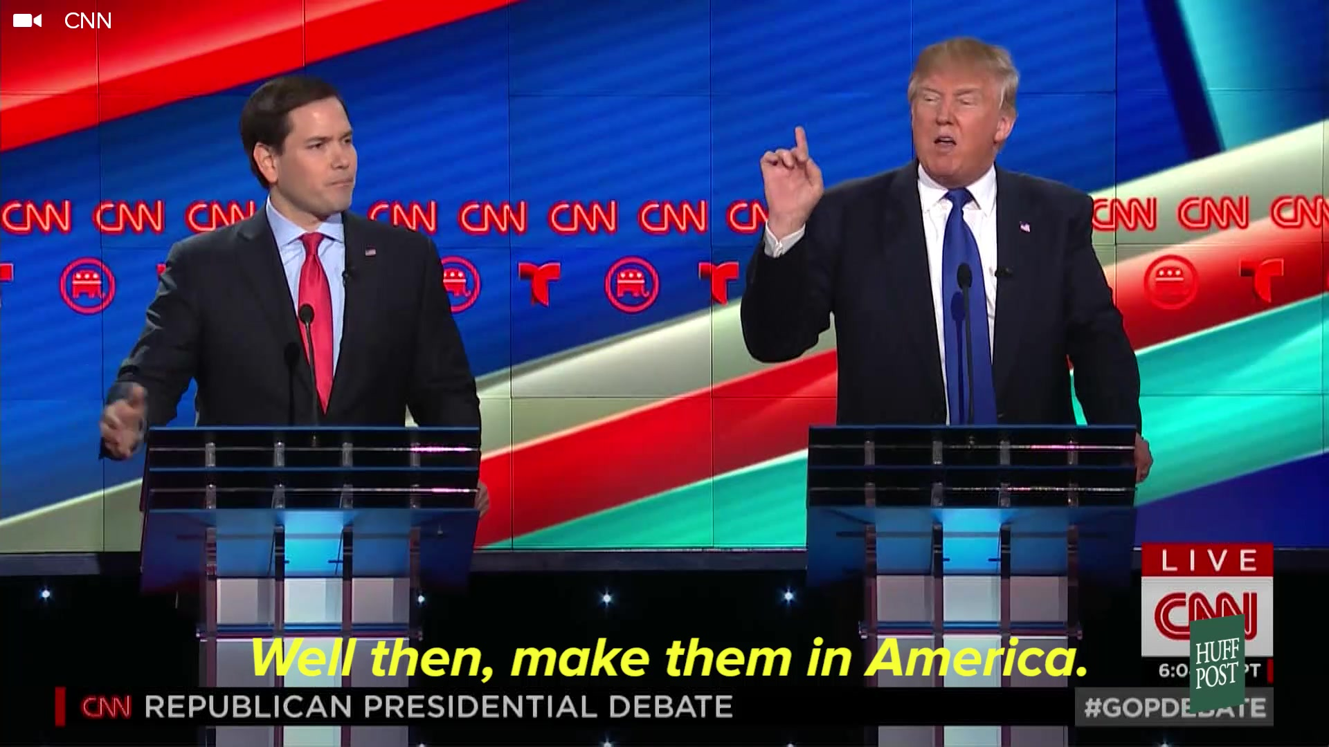 Marco Rubio And The Audience Vs. Trump