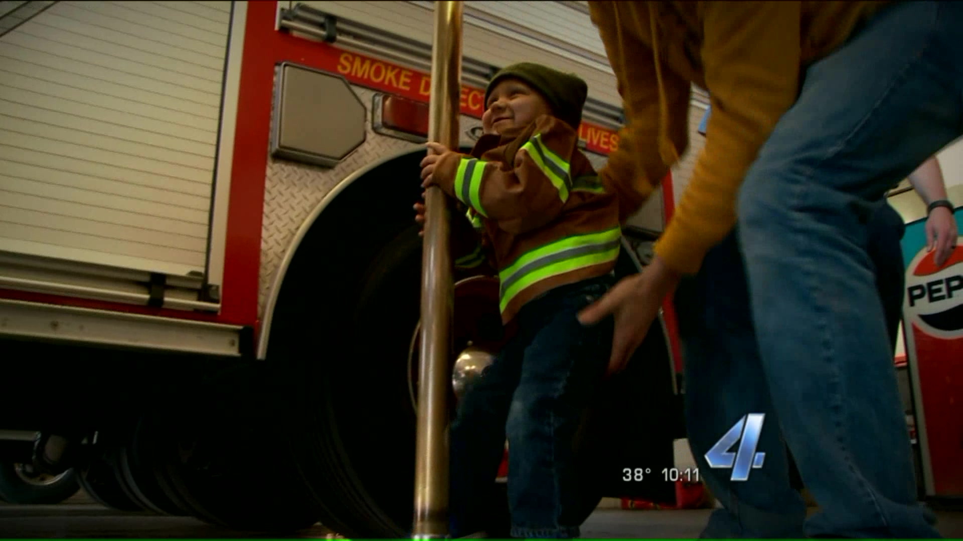 2-Year-Old Boy Battling Cancer Becomes Firefighter for a Day