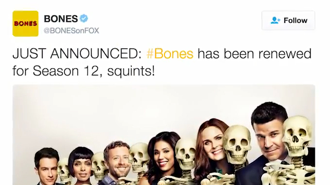 'Bones' Renewed for Final Season