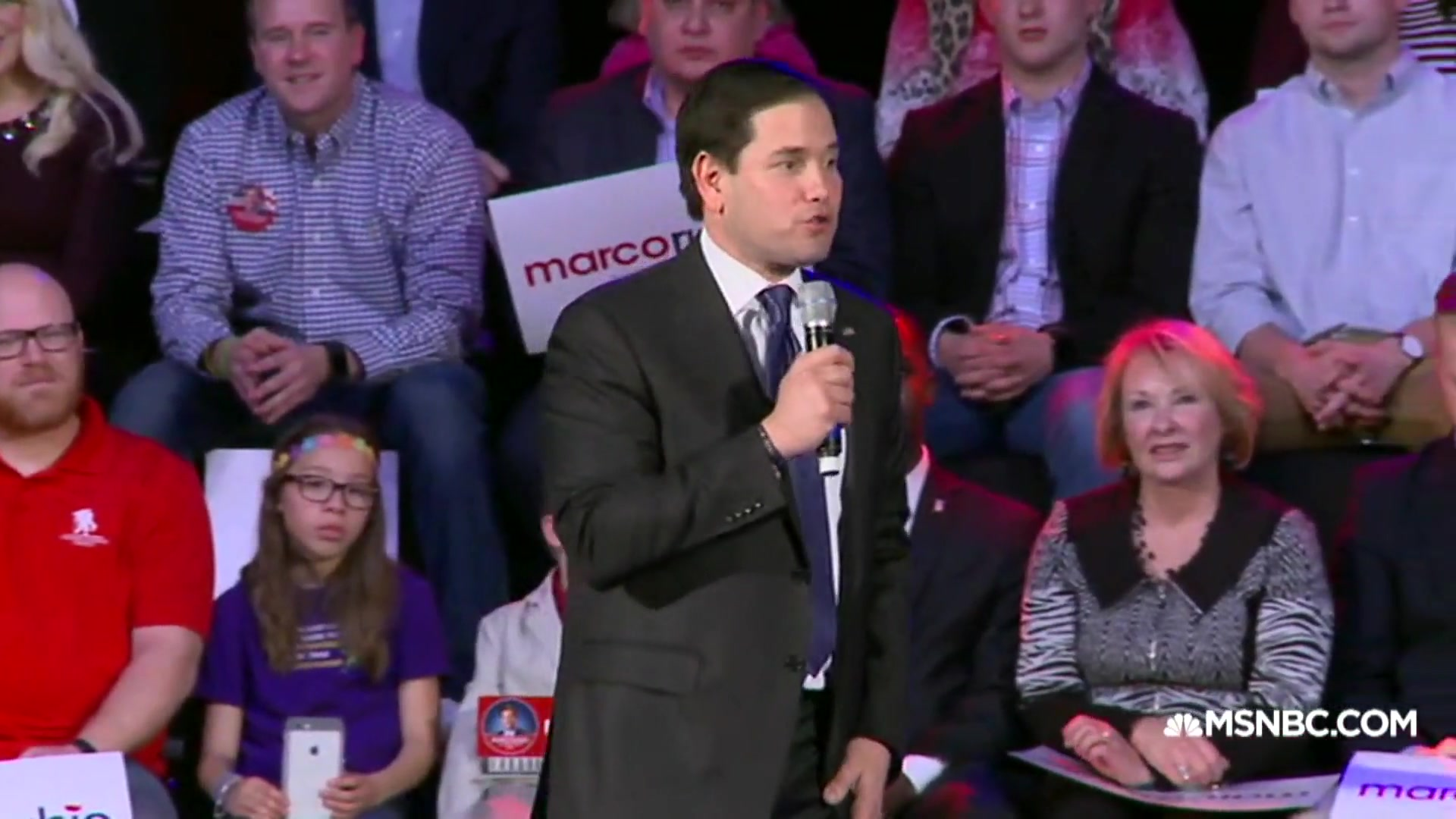 Marco Rubio Reads Trump's Mean Tweets at Rally