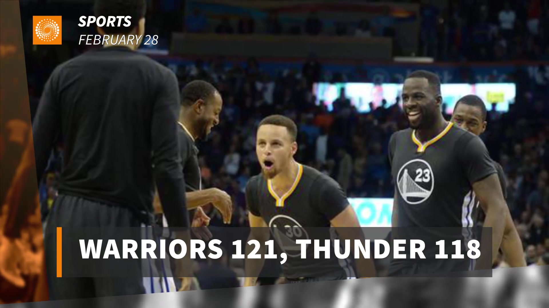 Warriors 121, Thunder 118