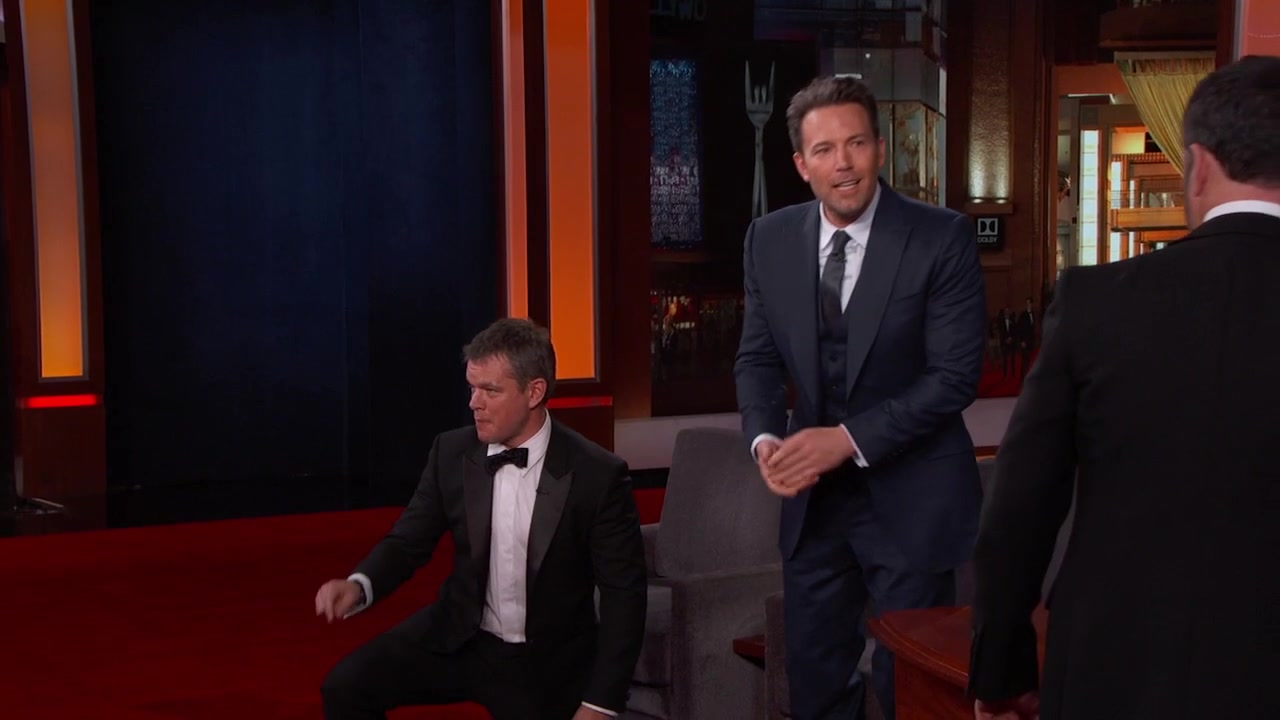 "'Jimmy Kimmel Live!': Ben Affleck Sneaks Matt Damon Onto ""Jimmy Kimmel Live!"""