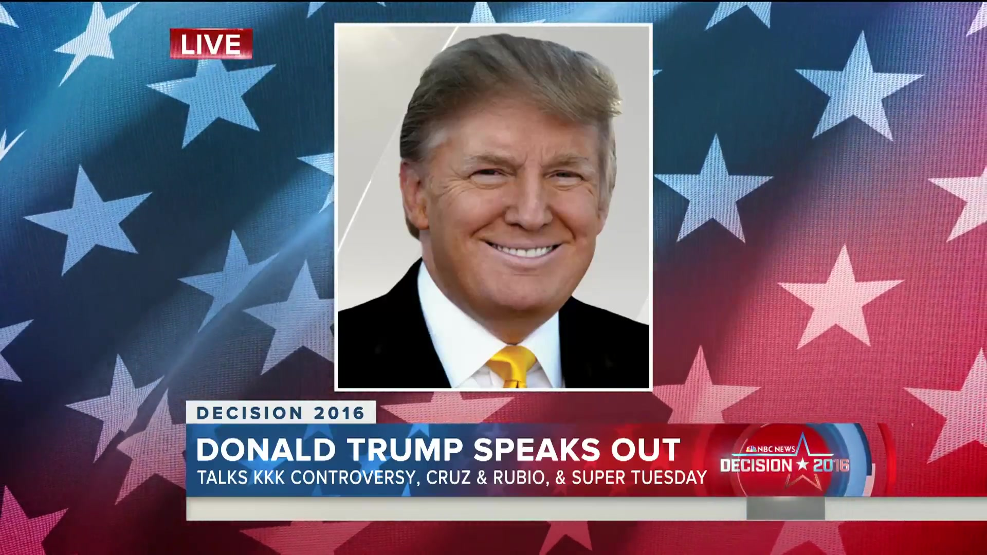 Donald Trump Talks KKK Controversy, Cruz and Rubio, the GOP Establishment