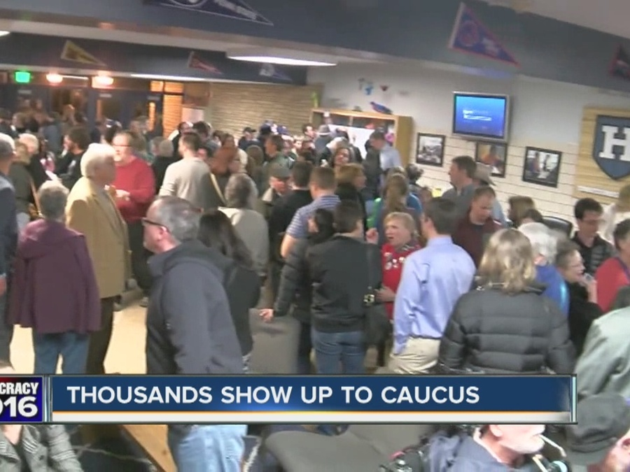 Many Caucus Goers Found Long Lines in Colorado