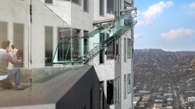 Sky-High Clear Glass Slide Coming To Los Angeles