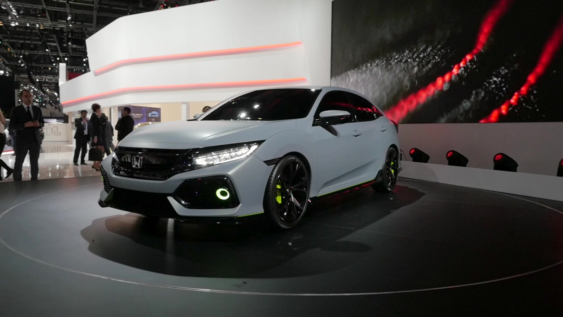 Honda Civic Hatchback Prototype | 2016 Geneva Motor Show | Beauty-Roll