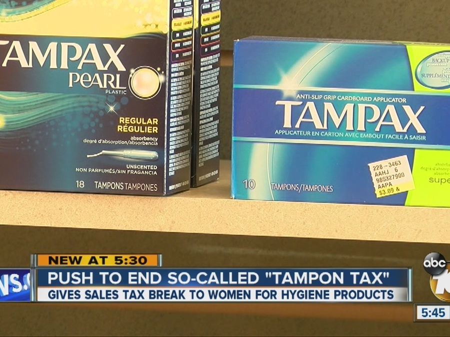"Push to End So-Called ""Tampon Tax"""