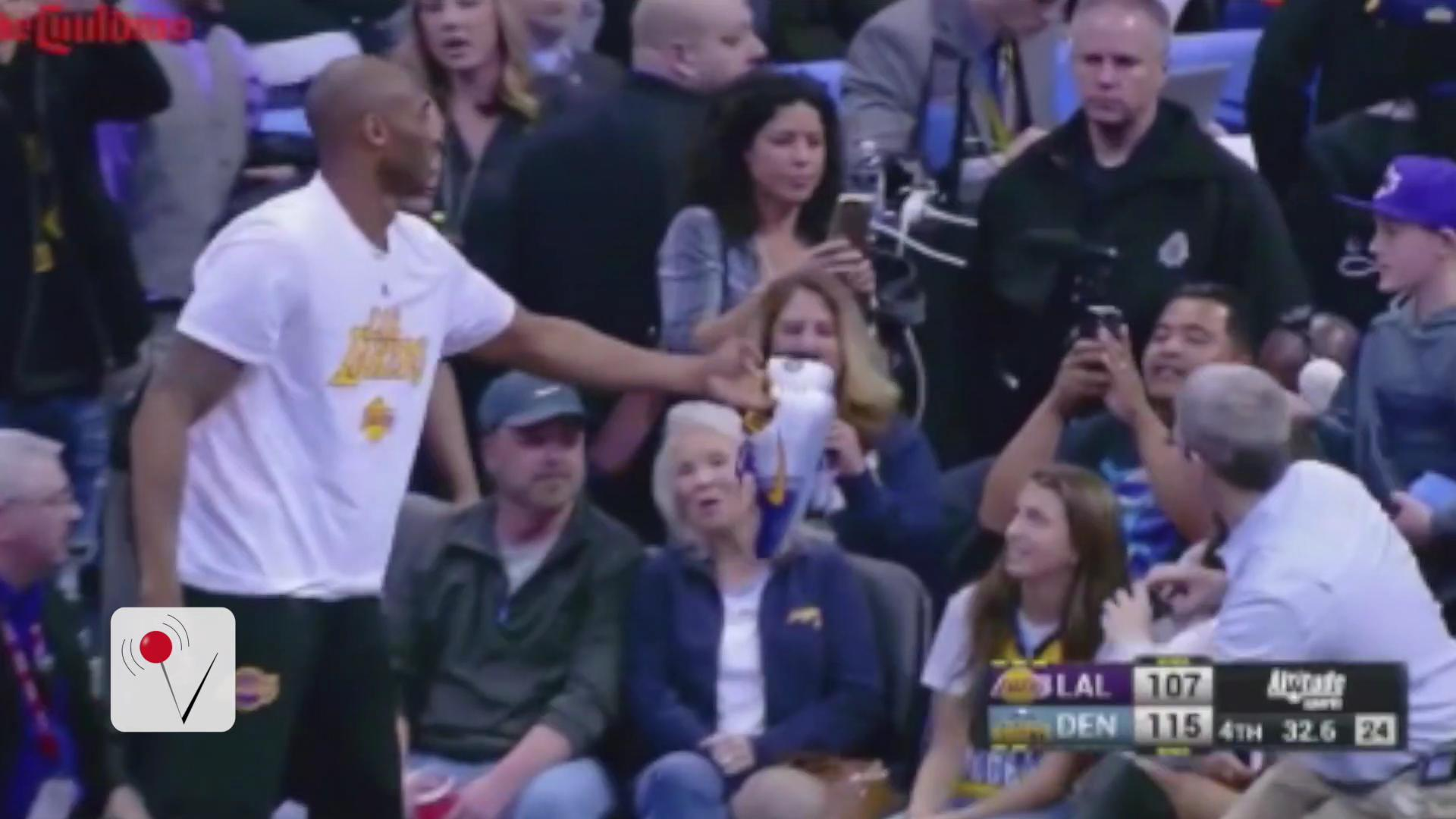 Kobe Bryant Give Fans the Shoes Off His Feet