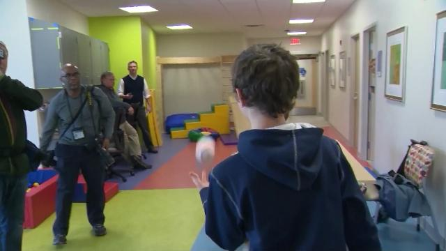 Boy with Reattached Arm Meets His Baseball Idol