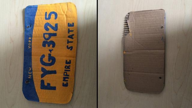 Woman Uses DIY License Plate Made Out Of Cardboard, Gets Arrested